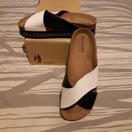 Sandalia Plataforma Baja Poco Uso