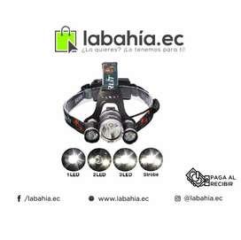 Linterna De Cabeza Recargable Triple Canon
