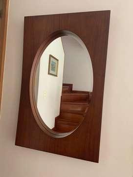 Espejo en Cedro