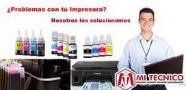 Mantenimientos y Recargas de Tinta Impresoras Canon, Hp y EPSON. Cartagena