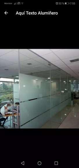 Aluminio y vidrios espejos biselados arenados placas mamparas espejos com perforaciones se trabaja mano de obra
