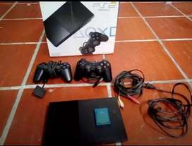 PS2 + 2 MANDOS ORIGINALES + MEMORY CARD DE 8MB