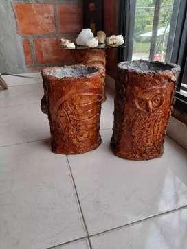 Materas en cemento estilo madera