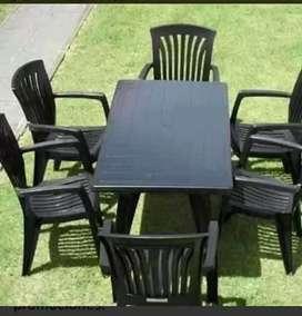 Vendo sillas y mesas muevas con garantía