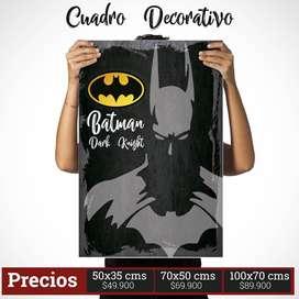 Cuadro Decorativo de Batman Comic Style