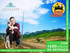 Rancho para finca campestre a 71 meses plazo con $100 de entrada Manabí | SD2