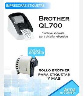 IMPRESORA DE ETIQUETA BROTHER QL700 USADA