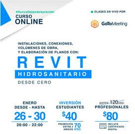 REVIT HIDROSANITARIO CURSO ON LINE
