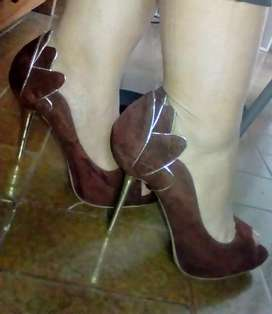 Zapatos estileto boca de pez taco aguja talle 39