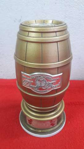 antigua caja musical dandy-mate international forma de barril