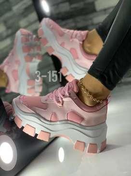 Zapato Tennis Deportivo Doble Piso para Dama