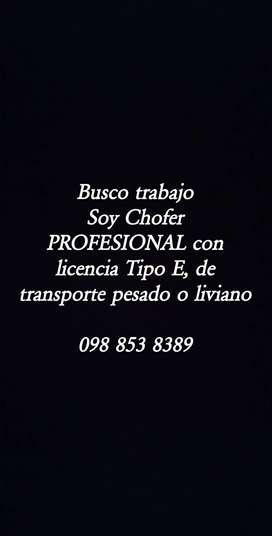 Busco trabajo de Chofer