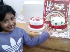 tortas de masa elástica navideñas