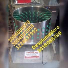 desplumadora marmita ahumador despulpadora mezclador dosificador clasificadora molino tanques pasteurizador seleccionado