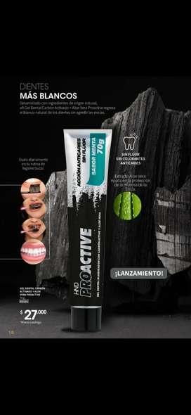 Gel Dental Crema Dental Blanqueador con CARBON ACTIVO y Aloe Vera HND