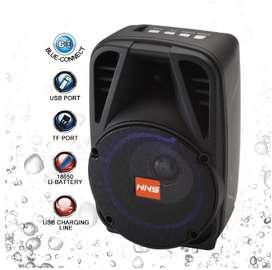 NNS-Altavoz Bluetooth NS-Q86BT, reproductor de música inalámbrico portátil con graves estéreo, Subwoofer, Control remo