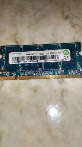 Memoria RAM 1GB Para Portátil PC2