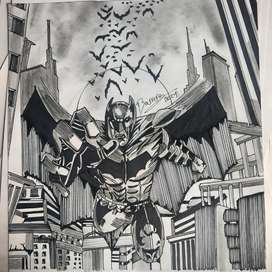BATMAN-FANART-FIRMADO POR JB.