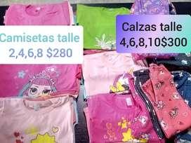 Camisetas y calcitas de niña