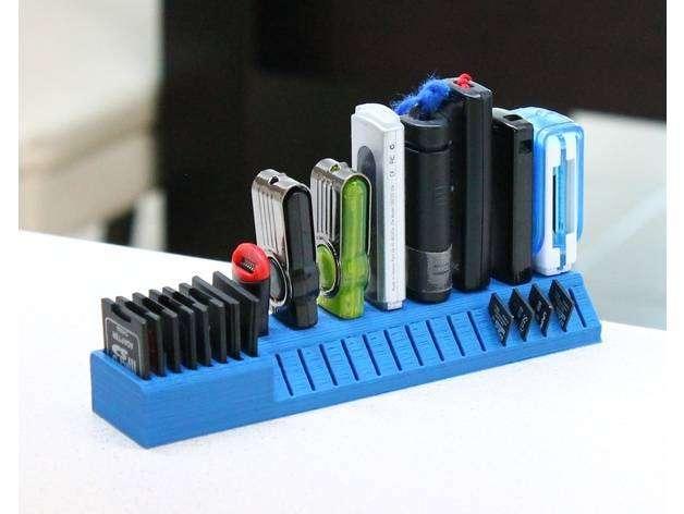 Porta Guardador Organizador Multi Memoria Usb Micro Sd Y Sd