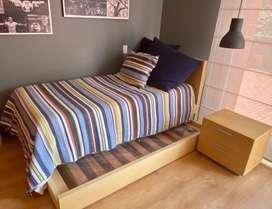 Vendo cama sencilla+ tarima baja+ mesa de noche