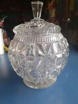 Caramelera de cristal antigua