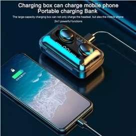 Audífonos y powerbank (2 en 1) F9