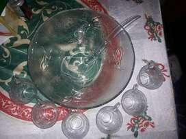 Ponchera de vidrio 14 piezas