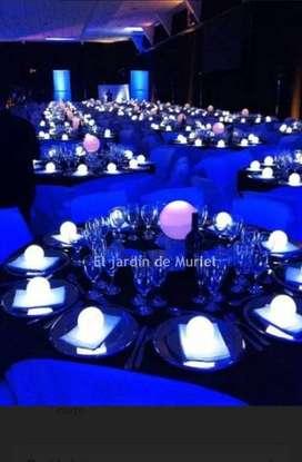 12 ESFERAS LED A PILA  - INALAMBRICA - centro de mesa led