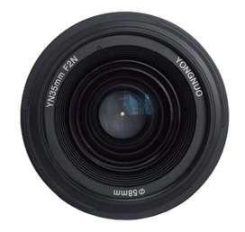 Lente Yongnuo 35mm Nikon F/2.0 Mf Af Objetivo Angular CON GARANTIA.