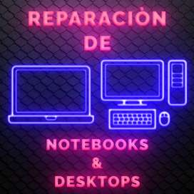 Reparación de Notebooks & Desktops