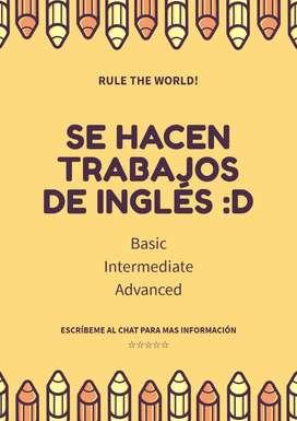 Resolución Trabajos Tarea Project Inglés utp ucv uss quizzes