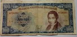 BILLETE DE 100 ESCUDOS CHILE