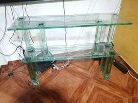 Mesa en vidrio de tv