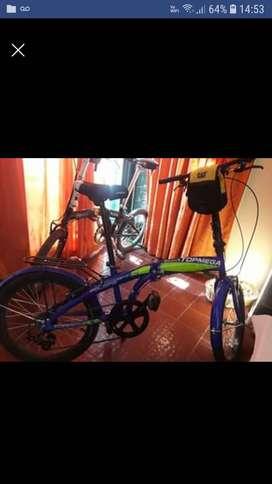 Vendo Bicicleta plegable topmega 2 usos.Nueva!