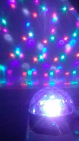 Parlante Bluetooth esfera con luces led