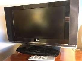 TV + DVD, LCD marca LG