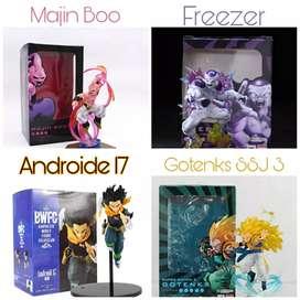 Figuras de los personajes de Dragon Ball Gokú, Vegeta, Broly, Gogeta y muchos más
