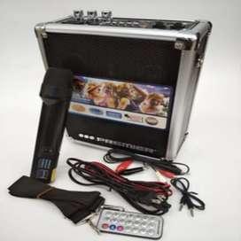 Combo cabina recargable Bluetooth y micrófono inalámbrico