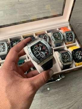 Reloj Richard Miller Rafa automático colores para hombre