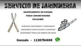 Servicio de jardineria - Parquista
