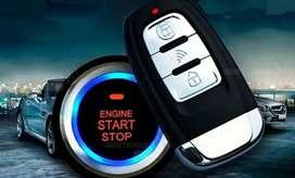Botón de encendido de auto + sensor de proximidad+ bloque de puertas