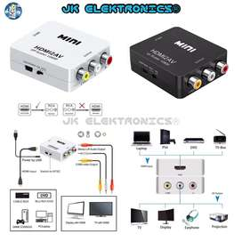 Convertor Mini HDMI a RCA AV/CVSB Video 1080P NTSC-PAL Power AC 5V Tipo Entrada V3