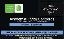 Asesorías en física y matemáticas para bachillerato, talleres, nivelaciones, clases virtuales, experiencia docente