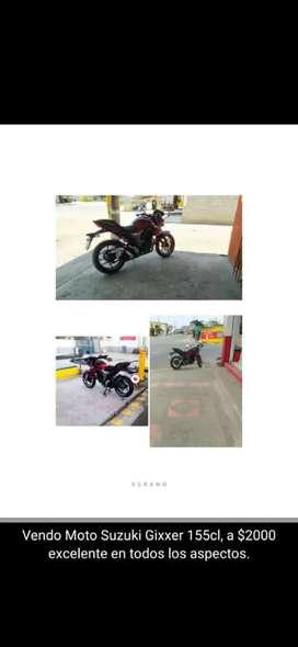 Vendo moto suzuki en perfectas condiciones