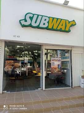 Vendo Negocio Franquicia Subway acreditado, Motivo Viaje,