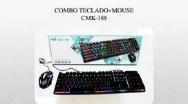 Se vende teclado mouse audifonos tipo diadema pad mouse.