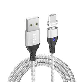 Cable Magnético Huawei P40 30 20 10 Mate Pro OnePlus Oppo Turbo Carga v5 Android iPhone MicroUSB TipoC Lightning - 0444