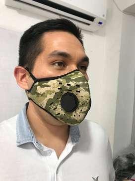 Tapabocas de alta protección con válvula de respiración