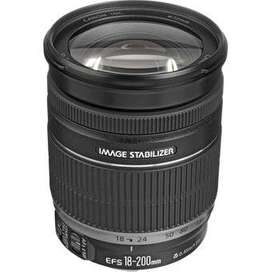 CANON ZOON EF-S 18-200mm f/3,5-5,6 IS - Negro